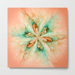 Marble flower Metal Print