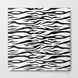 Tiger black and white pattern for hoe decoration Metal Print