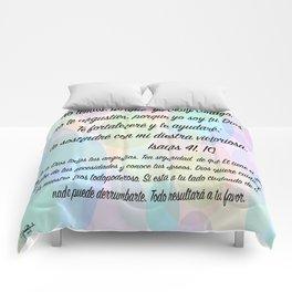 Burbujas - Isaías 41, 10 Comforters