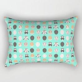 BUNNIES ((seafoam green)) Rectangular Pillow
