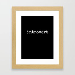 introvert - Lowercase - White Framed Art Print