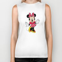 minnie mouse Biker Tanks featuring Cute Minnie Mouse by Yuliya L
