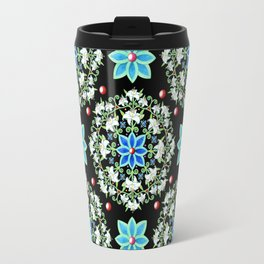 Folkloric Lily Medallion Travel Mug