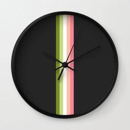 Athlete`s Choice - Minimal Retro Look Stripes On Black Wall Clock