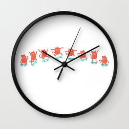 Kick Flip Cat Wall Clock
