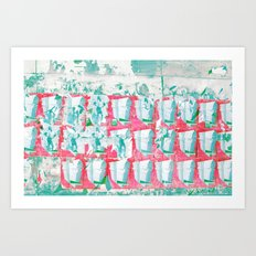 WALL PAPER II Art Print