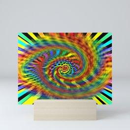 Rainbow Tornado Mini Art Print