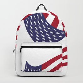 flag in the wind 1: USA Backpack