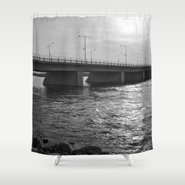 Water Under the Bridge - The Peace Collection Shower Curtain