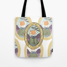 Portrait of little fox Tote Bag