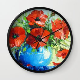 Bouquet of poppies Wall Clock