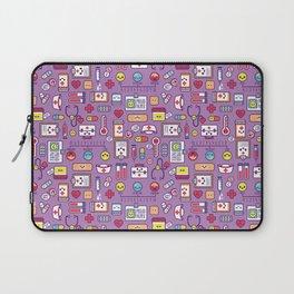 Proud To Be a Nurse Pattern / Purple Laptop Sleeve