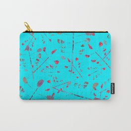 Pressed Leaves on Sky Blue Carry-All Pouch
