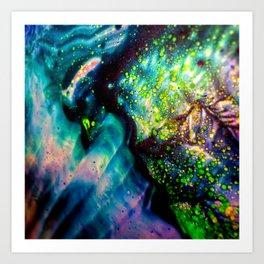 fluid galaxy Art Print