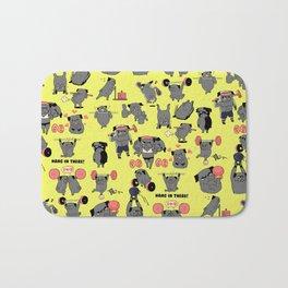 Black Pug Crossfit Bath Mat