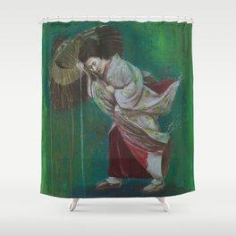 The Geisha on the Washing Line Shower Curtain