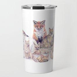Foxes of the World Travel Mug