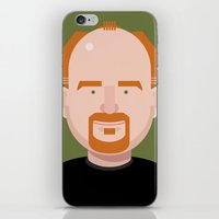 louis ck iPhone & iPod Skins featuring Comics of Comedy: Louis CK by XK9 Works