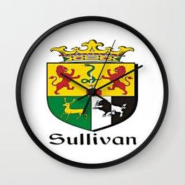 Family Crest - Sullivan - Coat of Arms Wall Clock