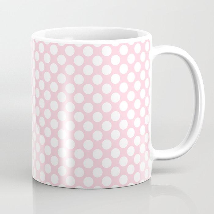 Large White Spots On Light Soft Pastel Pink Coffee Mug