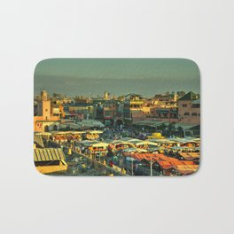 The marketplace of Marrakesh Bath Mat