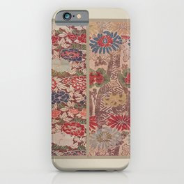 Verneuil - Japanese paper and fabric designs (1913) - 16: Chrysanthemums & Peonies iPhone Case