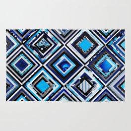 Test Pattern Blue Rug