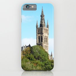 Scottish Photography Series (Vectorized) - University of Glasgow iPhone Case