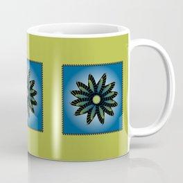 Blue Stitched Flower Coffee Mug