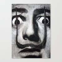 dali Canvas Prints featuring I am drugs ( Salvador Dali ) by Black Neon
