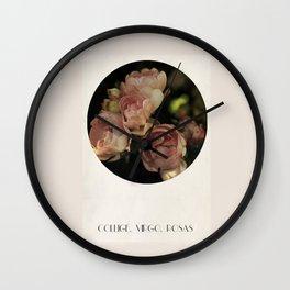 Collige, Virgo, Rosas Wall Clock