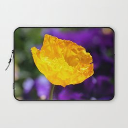 Yellow Poppy 2 Laptop Sleeve
