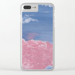 cherry blossom clouds Clear iPhone Case