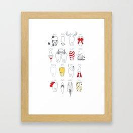 Dental Definitions Framed Art Print