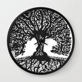 """""""Tree of Harmony"""" Hand-Drawn by Dark Mountain Arts Wall Clock"""
