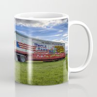 truck Mugs featuring Circus Truck by Ian Mitchell