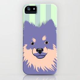 Olie the Pomeranian in Purple iPhone Case