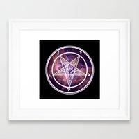 pentagram Framed Art Prints featuring Pentagram Galaxy by Parin Cashmony