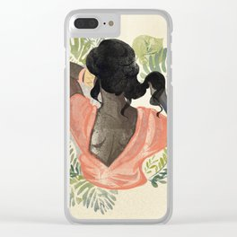 sunny girl Clear iPhone Case