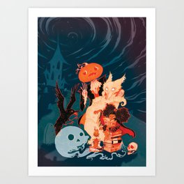 Spooky Books Art Print