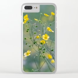 yellow buttercups Clear iPhone Case