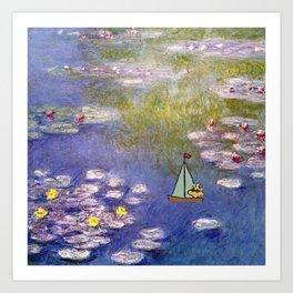 Snoopy meets Monet Art Print