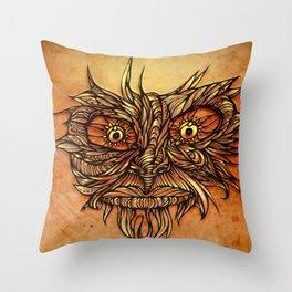 Face Flow Color Throw Pillow