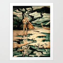 Viking Man Art Print