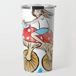Mushroom Bike Travel Mug