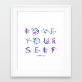 Kpop BTS: LOVE YOURSELF! Framed Art Print