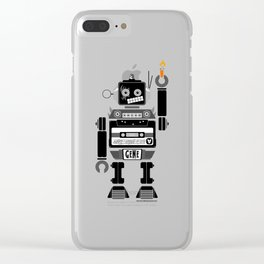 80s Mix Tape Robot - Gene (KISS TRIBUTE) Clear iPhone Case