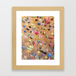 Wooden boulders climbing gym bouldering photography Framed Art Print