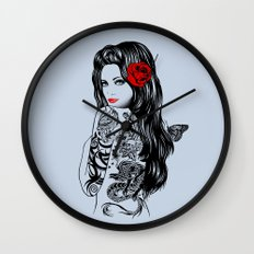 Tattoo Lolita Wall Clock