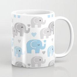 Blue Gray Elephant Baby Boy Nursery Coffee Mug